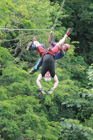 Rincon de La Vieja, Kostaryka: Upside down Ziplining!