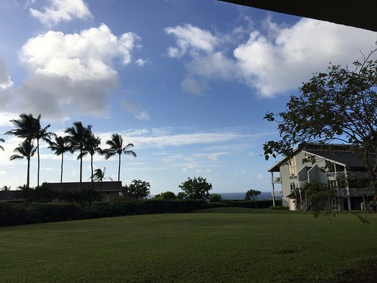 """Cliffs at Princeville: """"ocean"""" view from the rear lanai."""