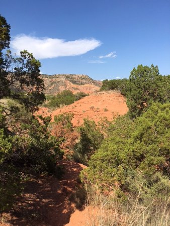 Palo Duro Canyon State Park: vista from down in canyon