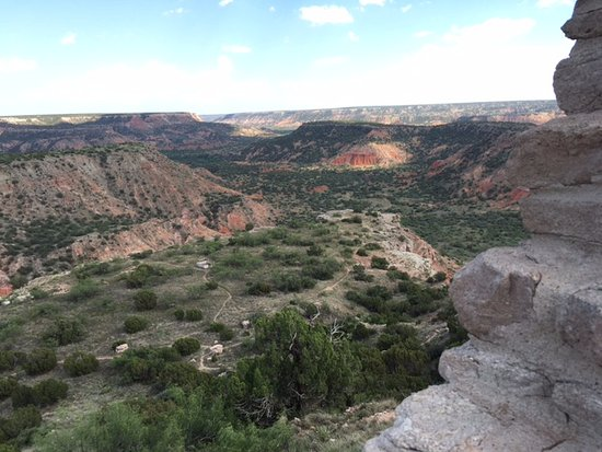 Palo Duro Canyon State Park: View from the top by visitor center