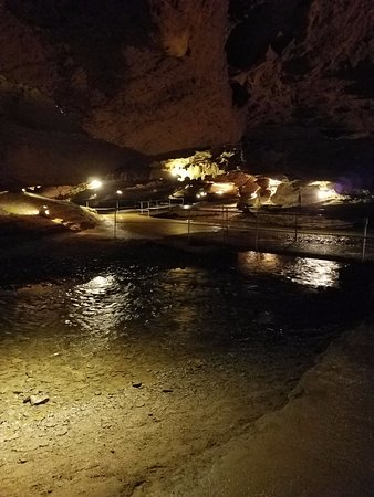 Townsend, TN: The beach area of the cavern.