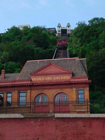 Duquesne Incline: The view before you get on from the parking lot