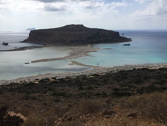 Balos Beach and Lagoon: View from the hike