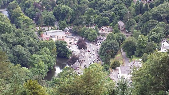 Matlock Bath, UK: View from above