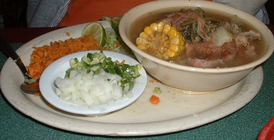 Caldwell, TX: Caldo de Rez (Beef Stew with clear broth and veggies)