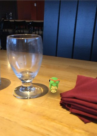Clarenville, Canada: Found a caterpillar on the table though...