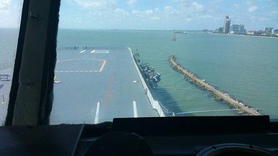 USS LEXINGTON: From the main deck