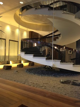 The Whitehall Houston: Huge Spiral Stairs In The Lobby Very Cool!