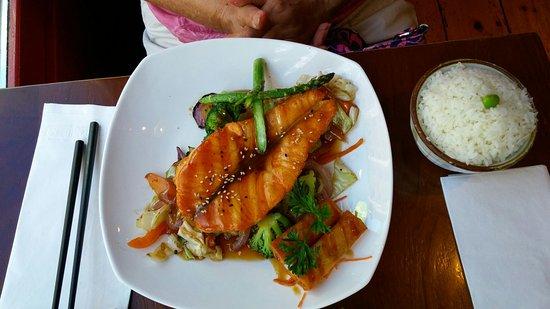 Edname, Teriyaki Salmon, Dynamite Sushi