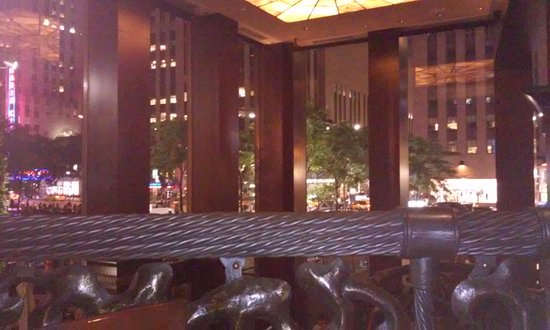 Del Frisco's Double Eagle Steak House: nice city view from upstairs seating.