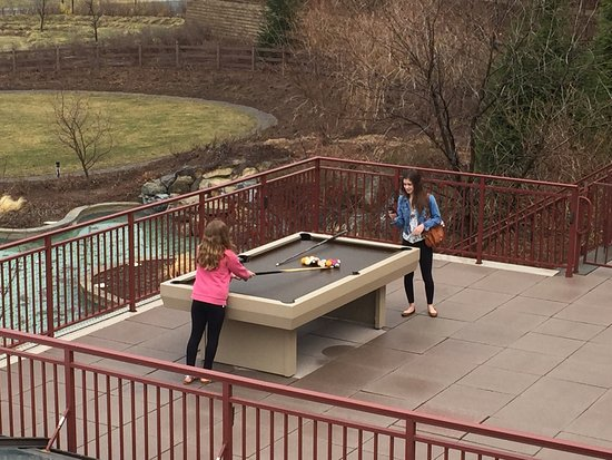 Outdoor Pool Table Great Idea But In Rough Shape Picture Of Grand Cascades Lodge Hamburg