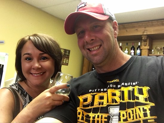 Aspirations Winery : wife and I