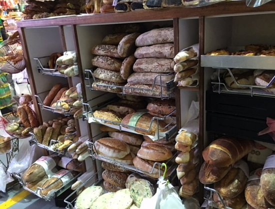 South Melbourne, Australia: Many varieties of breads & other deli supplies