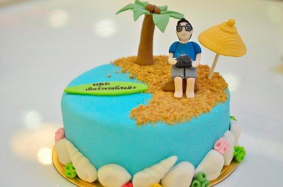 Superb Beach Themed Birthday Cake Bild Von Passion Restaurant Bakery Funny Birthday Cards Online Elaedamsfinfo