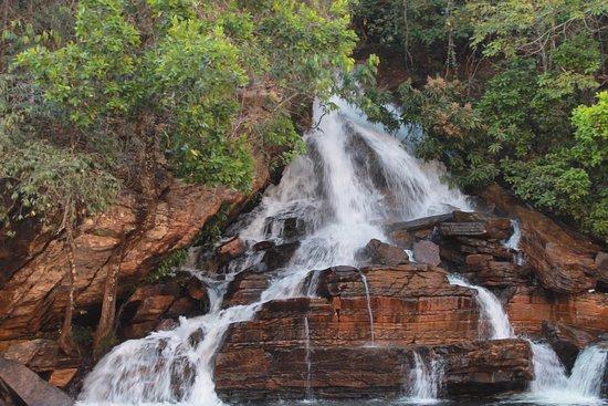 Meia-Lua and Usina waterfall