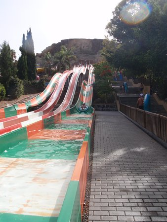 Aqualand: One of the many slides