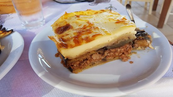 Falassarna, Yunani: mousaka. the best in our vacation