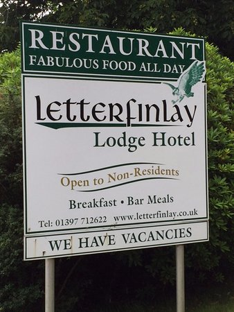 Letterfinlay Lodge Hotel: It says food all day but not at 5.30pm......!!