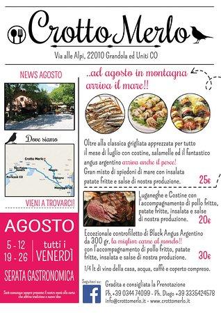 Carlazzo, Italy: serata gastronomica agosto 2016
