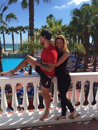 Marbella Playa Hotel: Vue de la terrasse sur la piscine