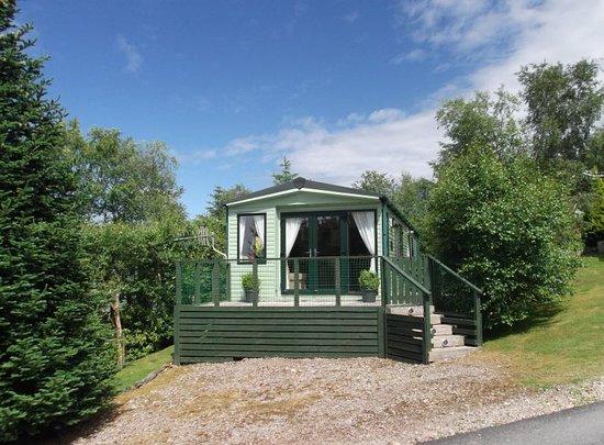 Kippford, UK: Caravan with Outlook French Doors