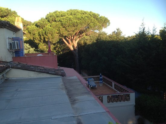 Hotel l'Amphore de l'Escalet : Utsikt fra terrassen en tidleg morgon.