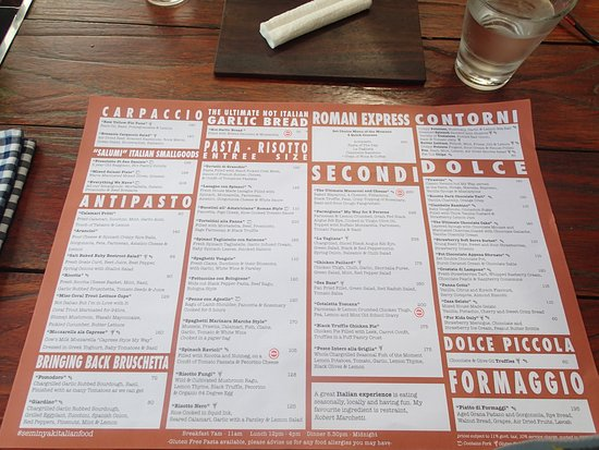 Menu As Of July   Picture Of Seminyak Italian Food Seminyak