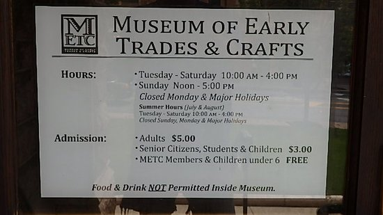 Museum of Early Trades & Crafts Image