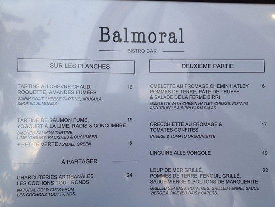 Bistro Le Balmoral : Good food