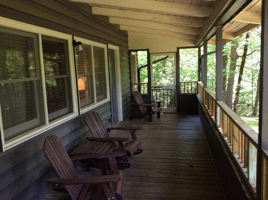 Back Porch Cabin : Cabin back porch picture of amicalola falls lodge