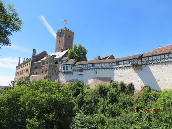 Wartburg Castle: Panorama photo of ther Wartburg from the northeast