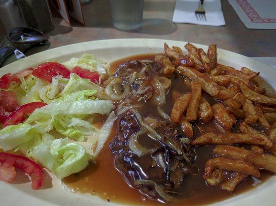 Longueuil, Canadá: Hamburger steak