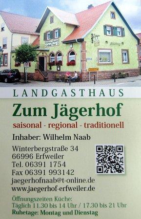 Erfweiler, Γερμανία: Jägerhof von Außen mit Daten