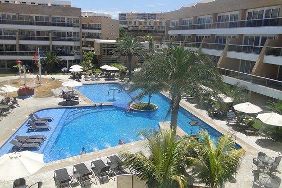 Margarita Real Boutique Hotel: es la vista desde mi habitación al área de piscina que es muy bonita!