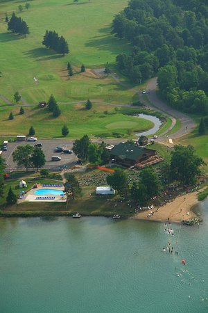 Cohasset, MN: Sugar Lake Lodge from Above