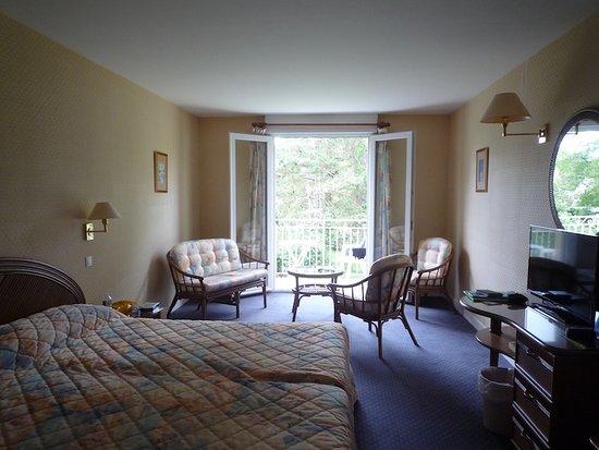 Hôtel du Pont Neuf : Chambre dans le pavillon parc (chambre 10)