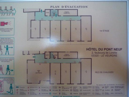 Le Veurdre, Francia: Les deux niveaux du pavillon parc