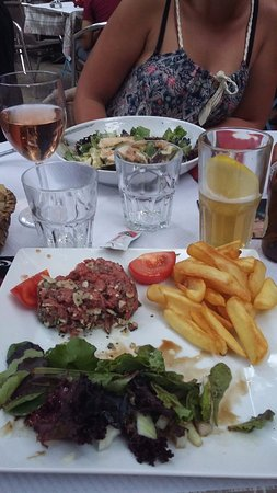 L'Hermitage : Tartare / salade césar