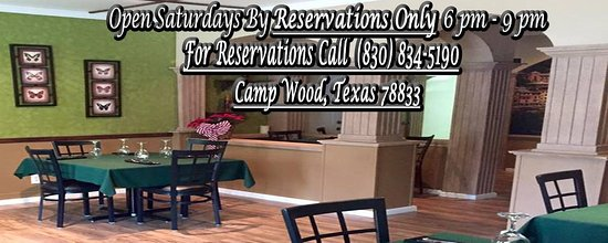 Camp Wood, TX: Inside Ristorante