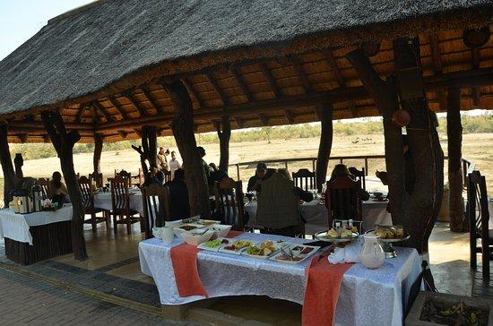Arathusa Safari Lodge: Breakfast with a view !!