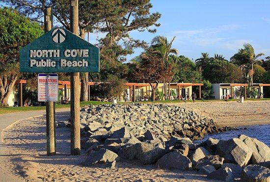 Paradise Point Resort & Spa: The hotel beach