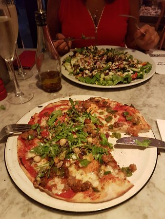 Pizza Express: Sloppy Giuseppe and Superfood Salad.