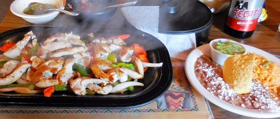 Melrose, MN: Chicken Fajitas -- sizzling and delicious!