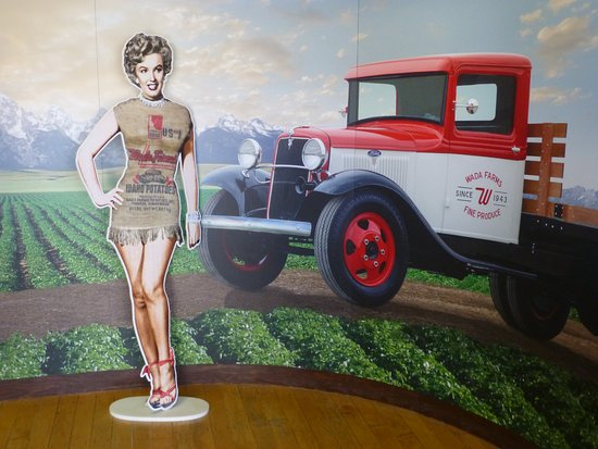 Blackfoot, ID: You are welcomed by Marilyn Monroe wearing a potato sack.