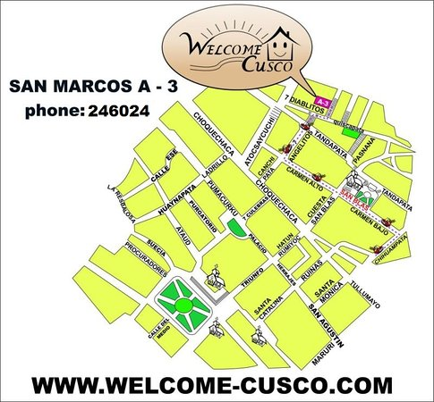 Welcome Cusco Hostal: COMO LLEGO?