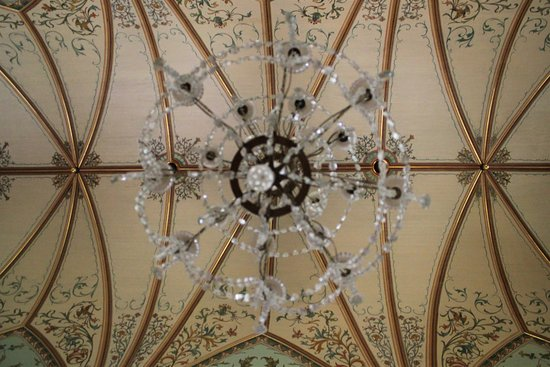 Schulenburg, TX: standing under the beautiful chandelier