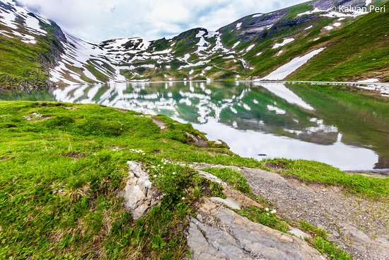 Grindelwald, Switzerland: Reflections on the other side of the Bachalpsee Lake!