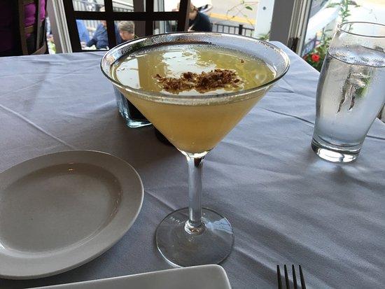 Five-O Shore Road : Salad; cocanut martini, bowl of chowder!