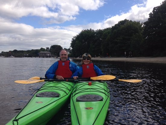 Хеленсбург, UK: 2 OAPs after an afternoon Introdction to Canoeing with Keith at Paddlepower and Adventure