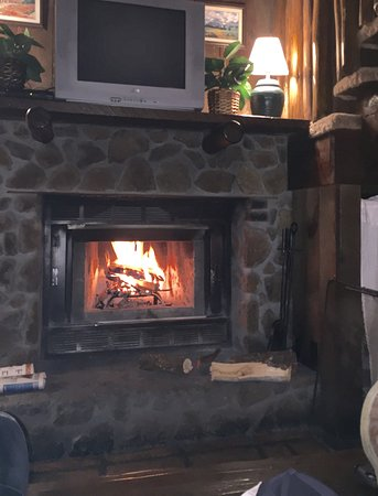 Pinos Altos, NM: Crackling fire in the evening.